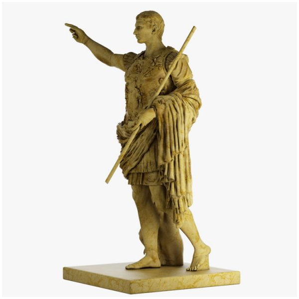 1I711003 augustus caesar statue marble stone garden (7)