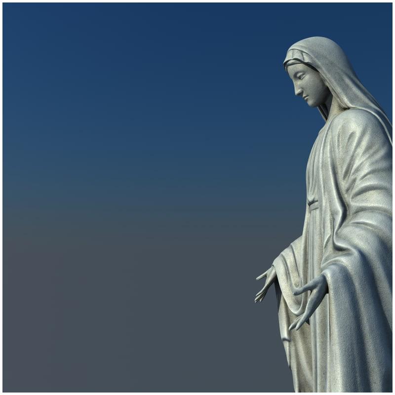 1I711004 virgin mary statue outdoor (2)