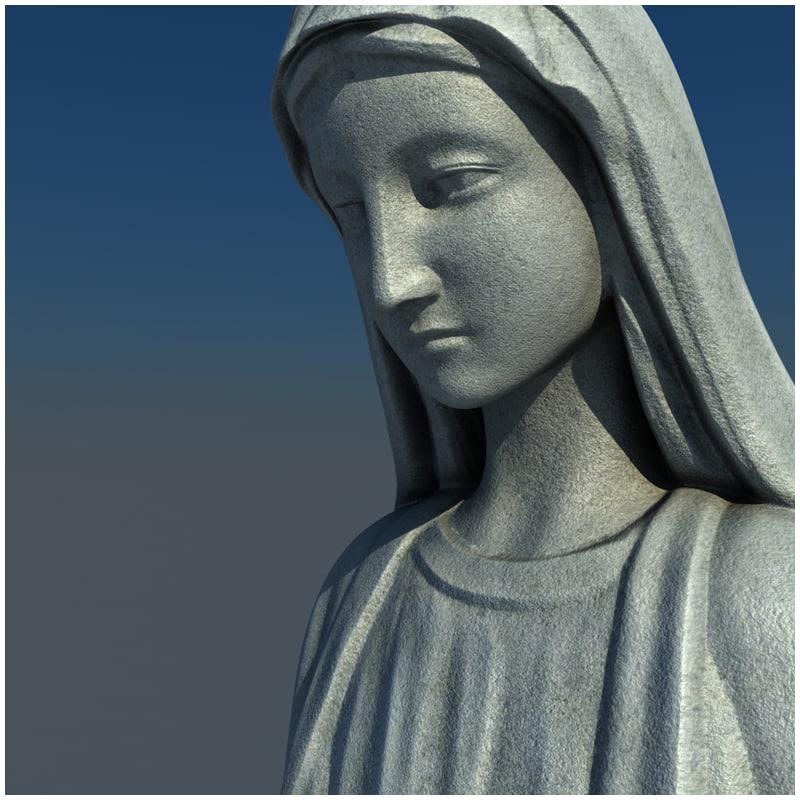 1I711004 virgin mary statue outdoor (5)