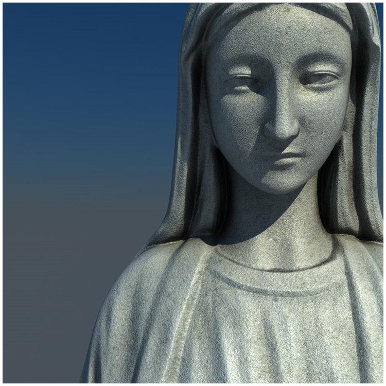 1I711004 virgin mary statue outdoor (6)