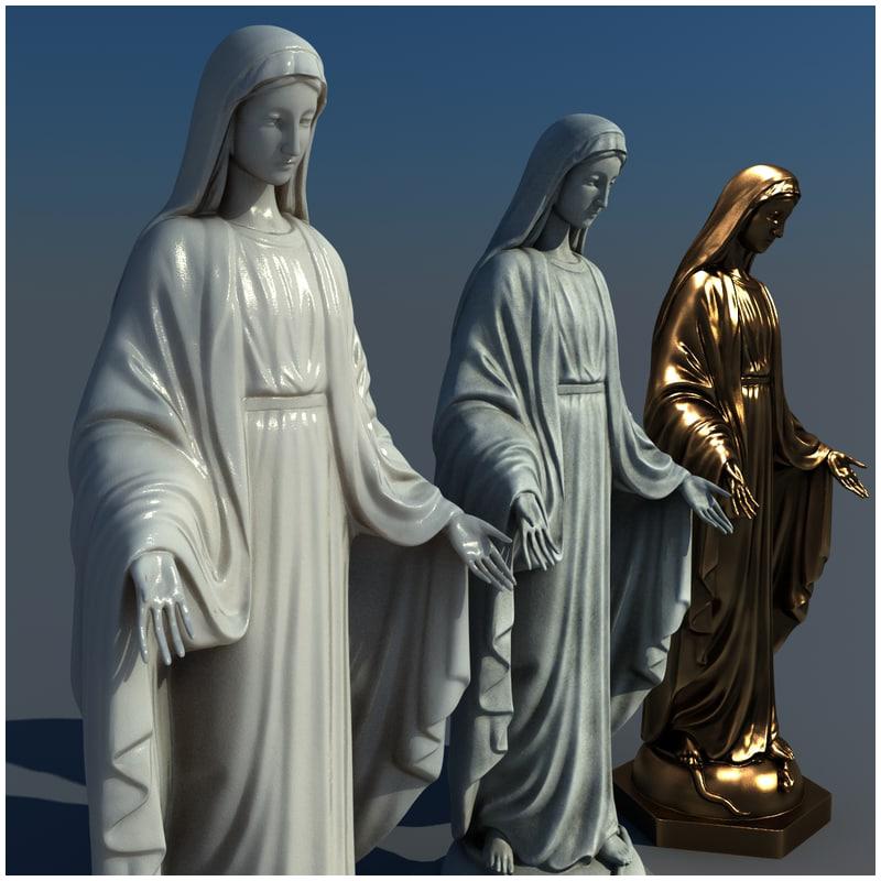 1I711004 virgin mary statue outdoor (7)