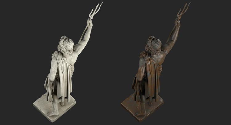 1I711009 Poseidon Statues White Marble Stone (6)