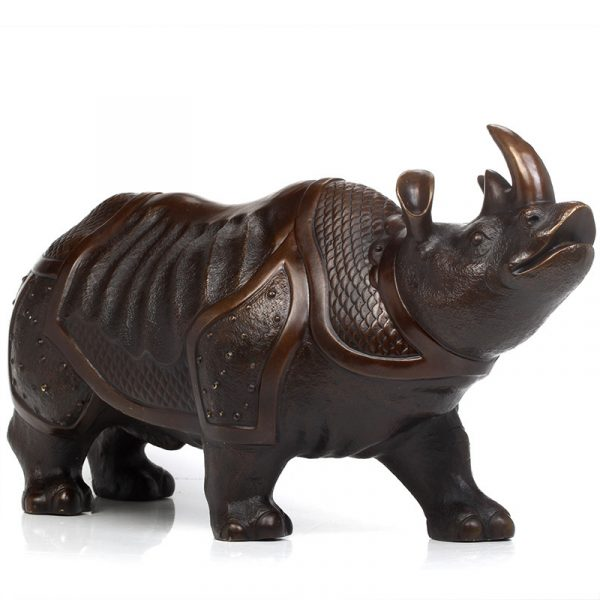 1I904063 Brass Rhinoceros Feng Shui Products (2)