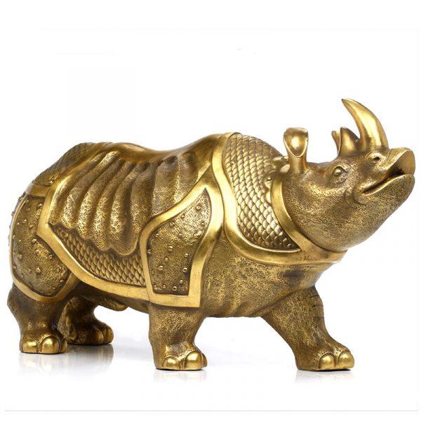 1I904063 Brass Rhinoceros Feng Shui Products (3)