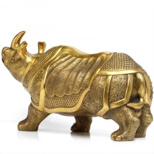 1I904063 Brass Rhinoceros Feng Shui Products (4)