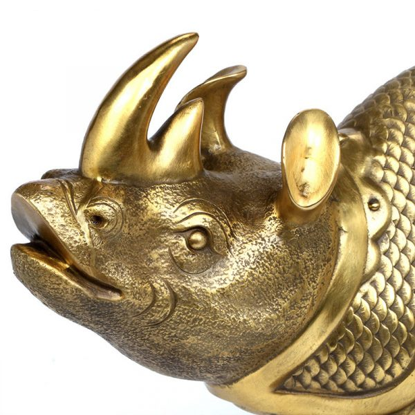 1I904063 Brass Rhinoceros Feng Shui Products (5)