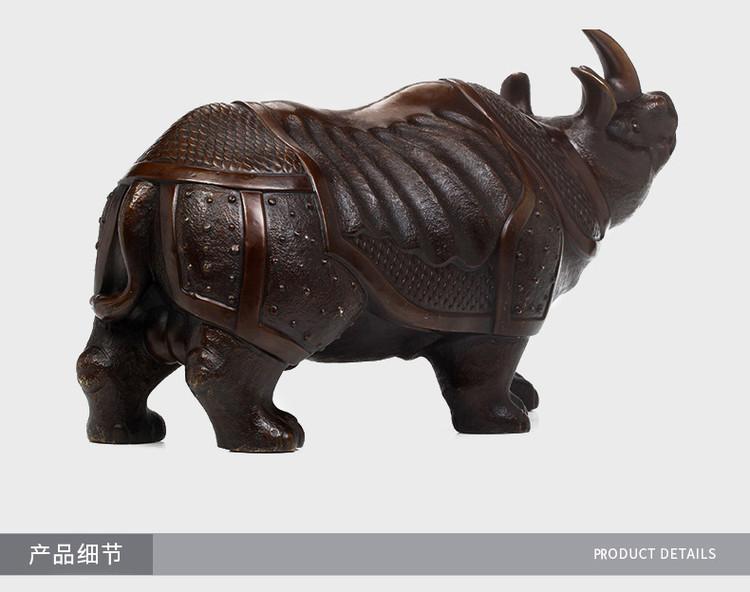 1I904063 Brass Rhinoceros Feng Shui Products (9)