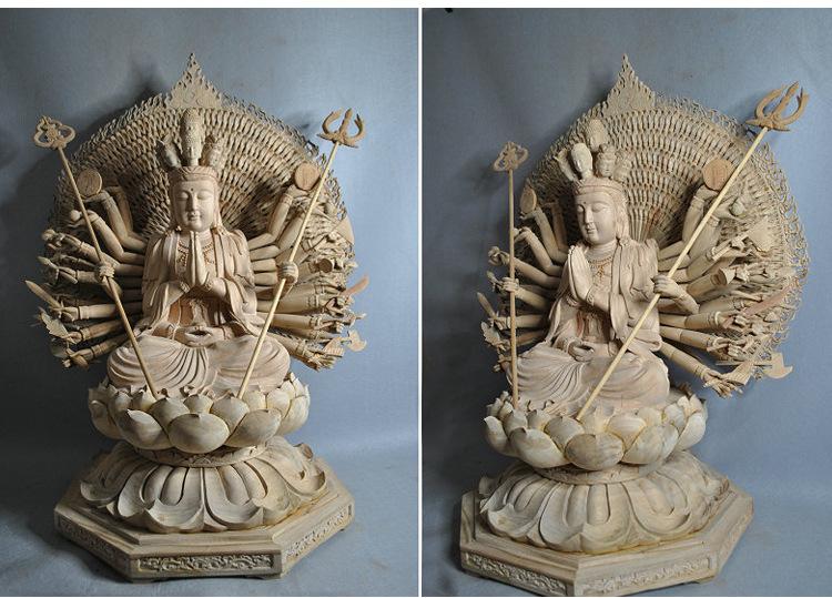 1I805001 Detail Thousand Hand Guan Yin Wooden (12)