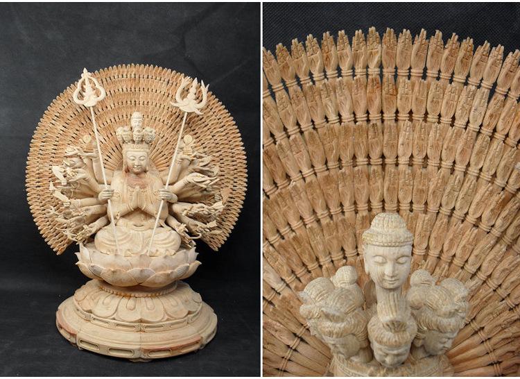 1I805001 Detail Thousand Hand Guan Yin Wooden (16)
