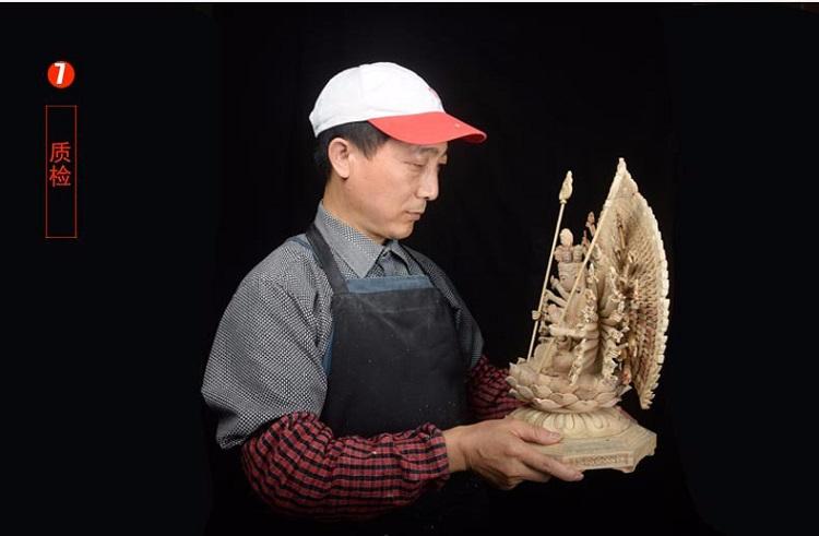 1I805001 Detail Thousand Hand Guan Yin Wooden (21)