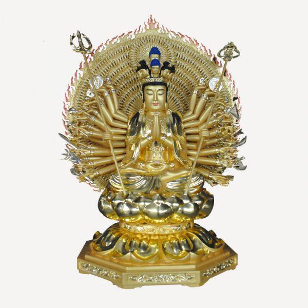 1I805001 Thousand Hand Guan Yin Wooden (1)