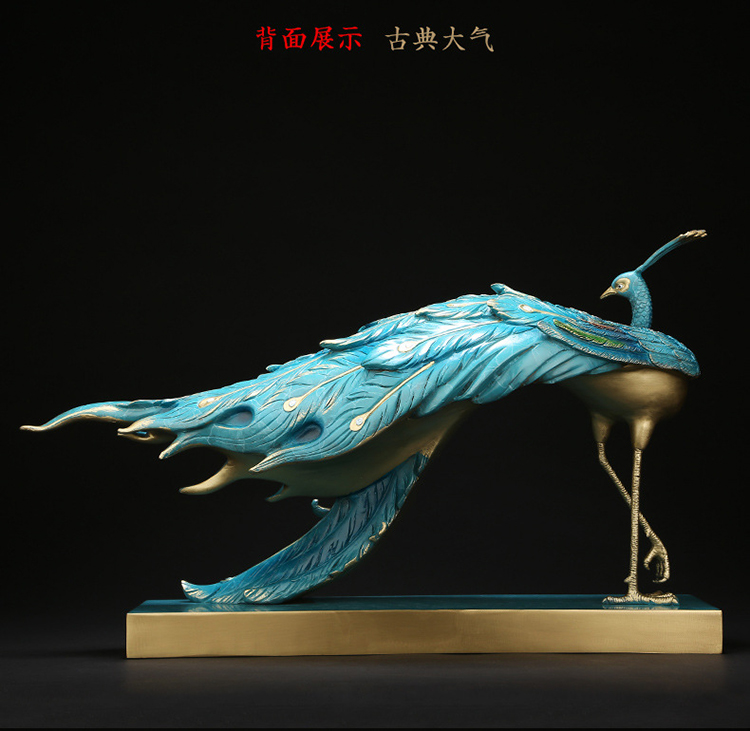 1I808002 Detail Peacock Garden Statue (6)