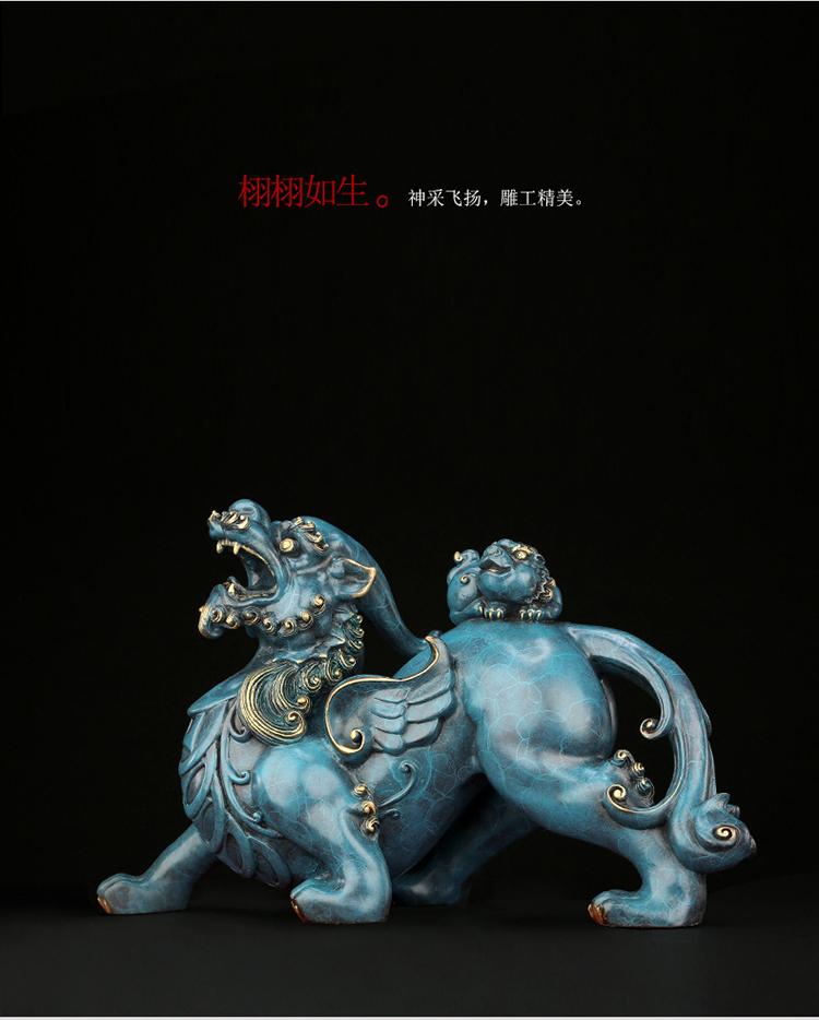 1I808003 Detail Pixiu Statue Dragon Feng Shui Online Sale (10)