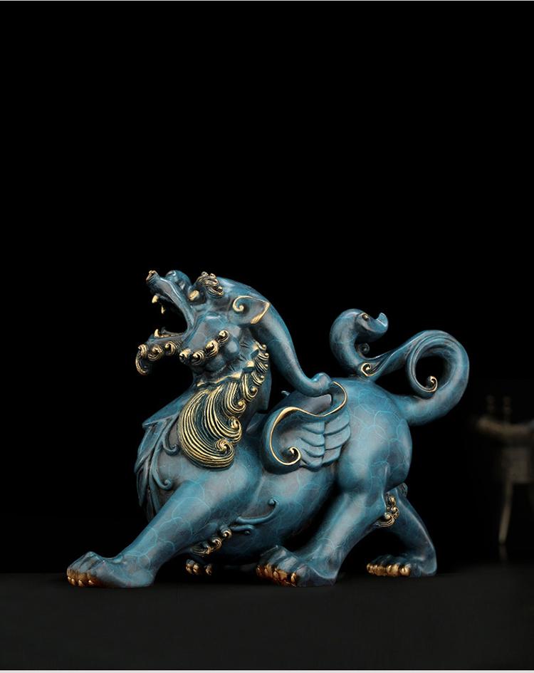 1I808003 Detail Pixiu Statue Dragon Feng Shui Online Sale (7)