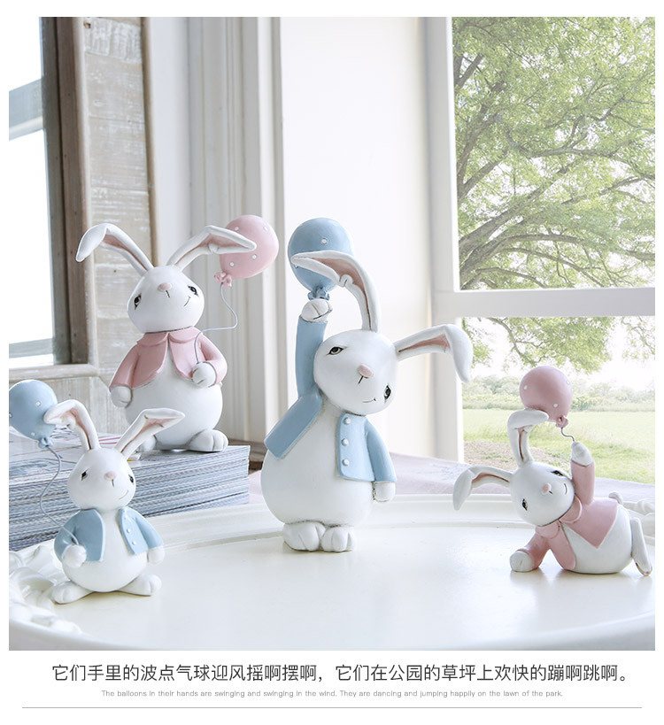 1I820001 Detail Resin Easter Bunny Figurines Plastic (10)
