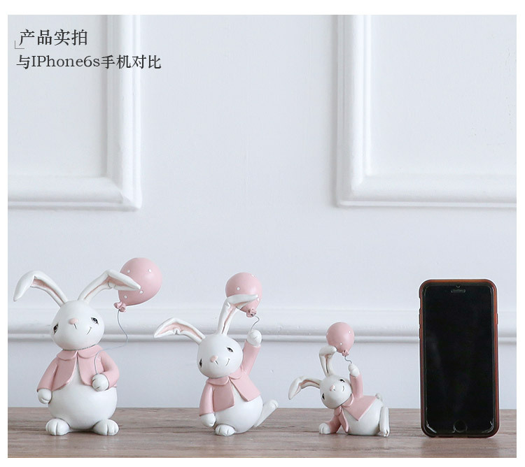 1I820001 Detail Resin Easter Bunny Figurines Plastic (11)