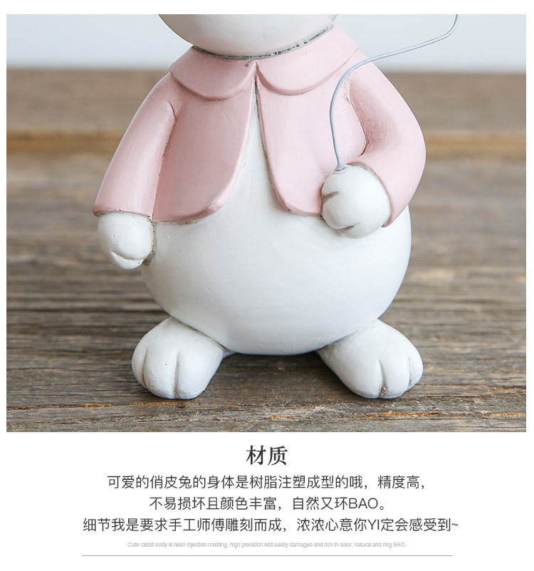 1I820001 Detail Resin Easter Bunny Figurines Plastic (13)