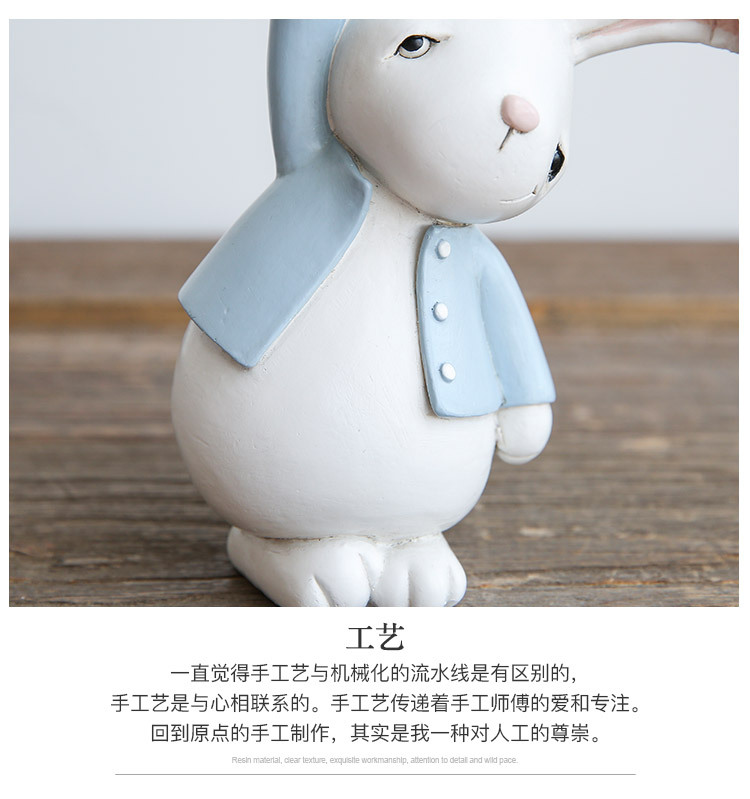 1I820001 Detail Resin Easter Bunny Figurines Plastic (14)