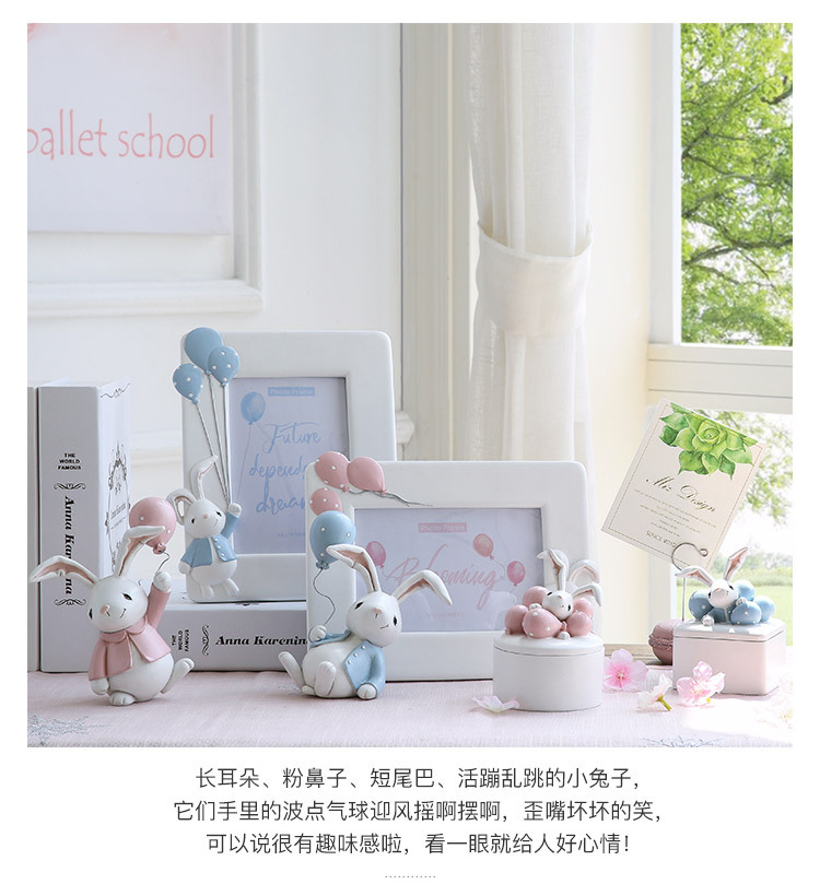 1I820001 Detail Resin Easter Bunny Figurines Plastic (2)