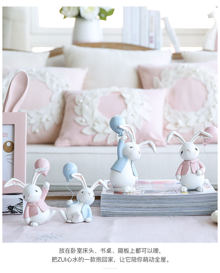 1I820001 Detail Resin Easter Bunny Figurines Plastic (3)