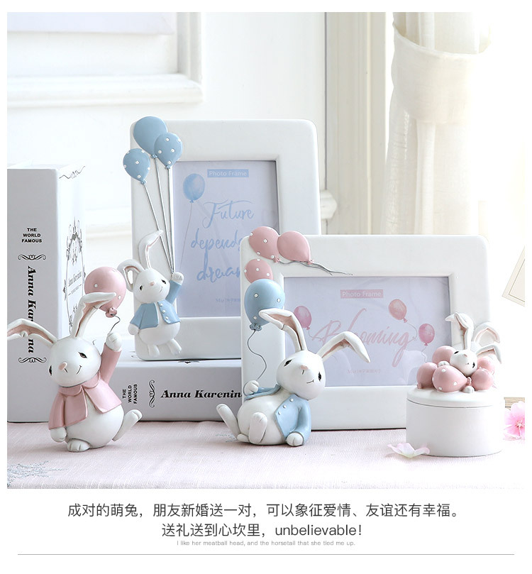 1I820001 Detail Resin Easter Bunny Figurines Plastic (6)