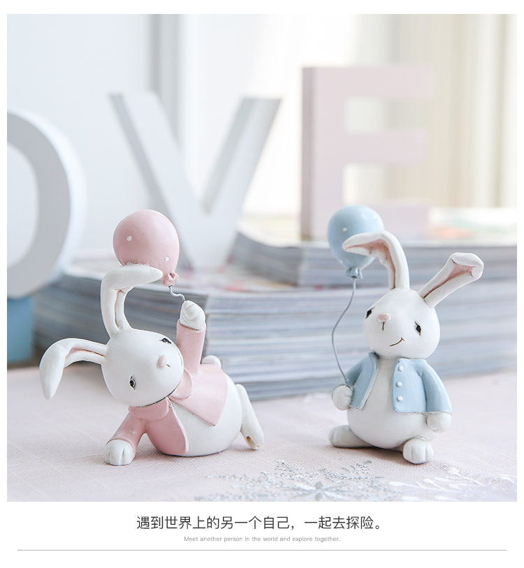 1I820001 Detail Resin Easter Bunny Figurines Plastic (8)
