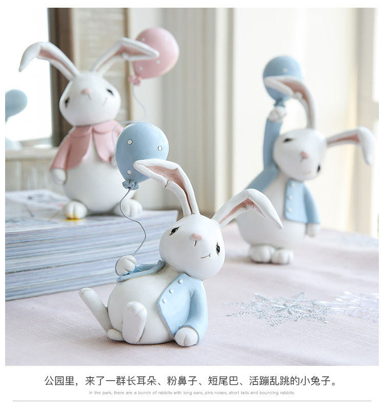 1I820001 Detail Resin Easter Bunny Figurines Plastic (9)