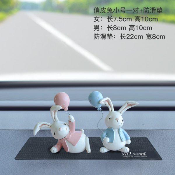 1I820001 Resin Easter Bunny Figurines Plastic (10)