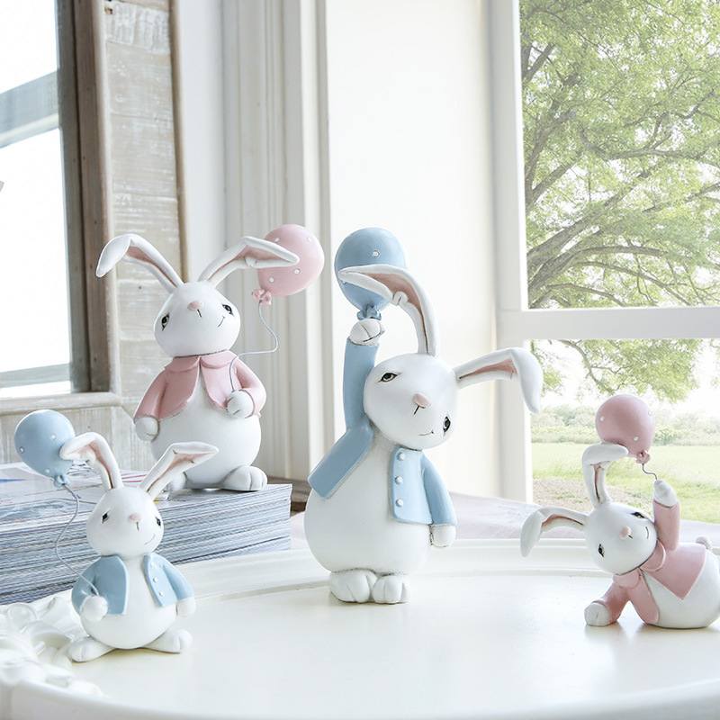 1I820001 Resin Easter Bunny Figurines Plastic (2)