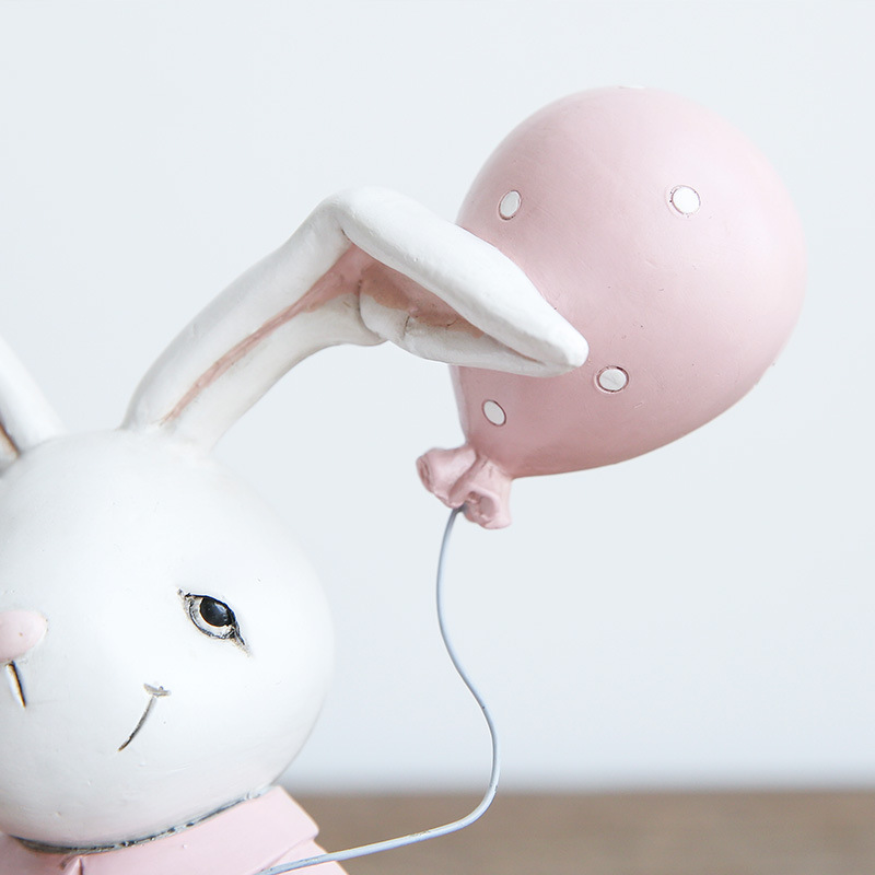 1I820001 Resin Easter Bunny Figurines Plastic (3)