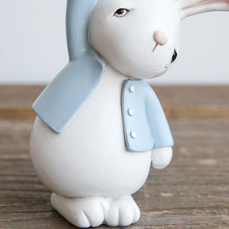 1I820001 Resin Easter Bunny Figurines Plastic (4)