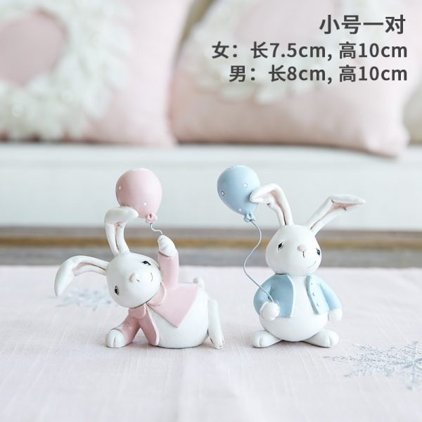 1I820001 Resin Easter Bunny Figurines Plastic (6)