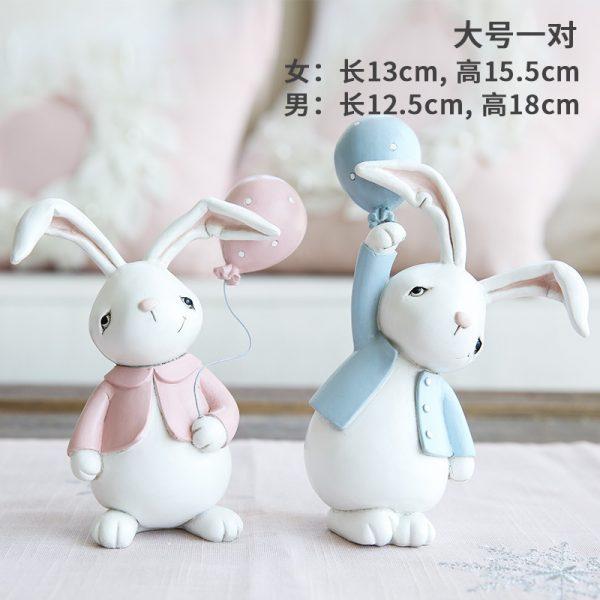 1I820001 Resin Easter Bunny Figurines Plastic (7)