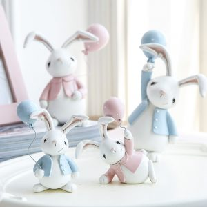 1I820001 Resin Easter Bunny Figurines Plastic (8)