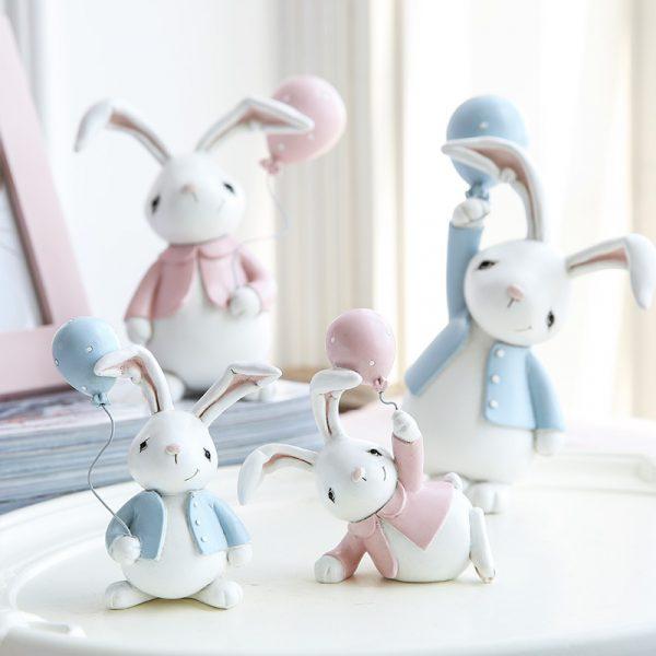 1I820001 Resin Easter Bunny Figurines Plastic (8)