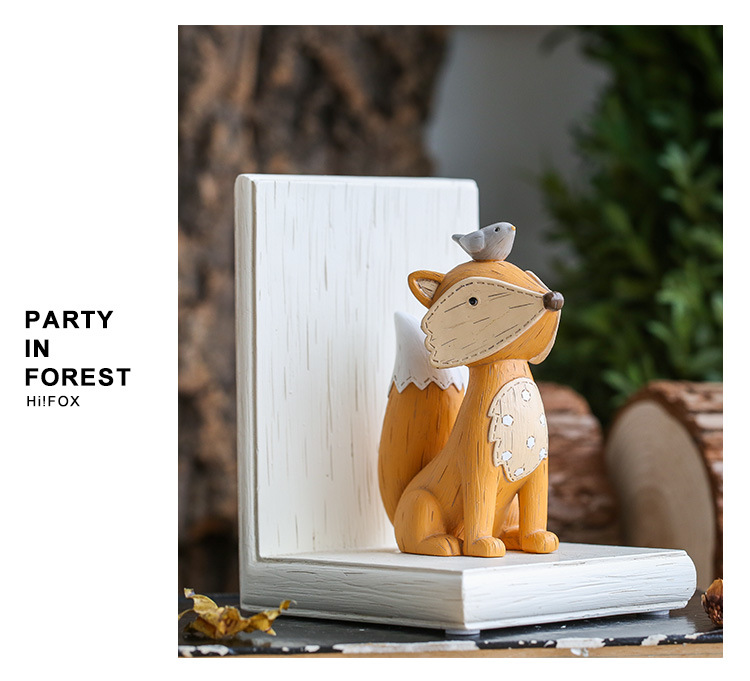 1I820003 Fox Bookend Squirrel Bookend (13)