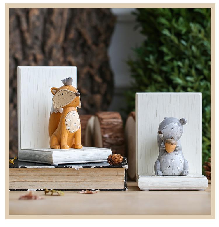 1I820003 Fox Bookend Squirrel Bookend (14)