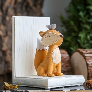 1I820003 Fox Bookend Squirrel Bookend (2)