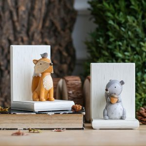 1I820003 Fox Bookend Squirrel Bookend (4)