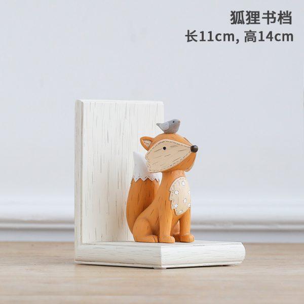 1I820003 Fox Bookend Squirrel Bookend (6)