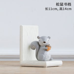 1I820003 Fox Bookend Squirrel Bookend (7)