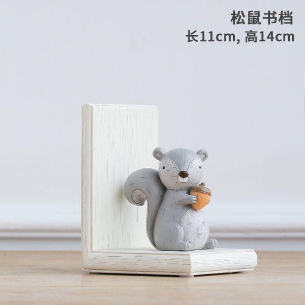 1I820003 Fox Bookend Squirrel Bookend (7)