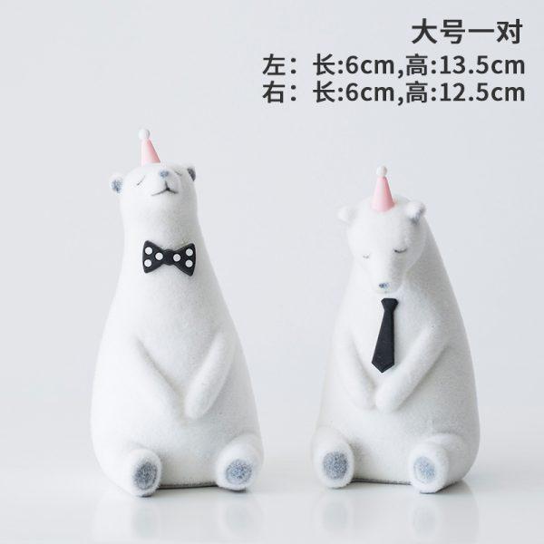 1I820019 Polar Bear Figurine White Cheap Sale (1)