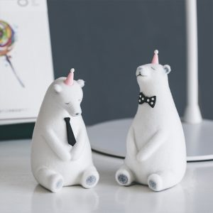 1I820019 Polar Bear Figurine White Cheap Sale (2)
