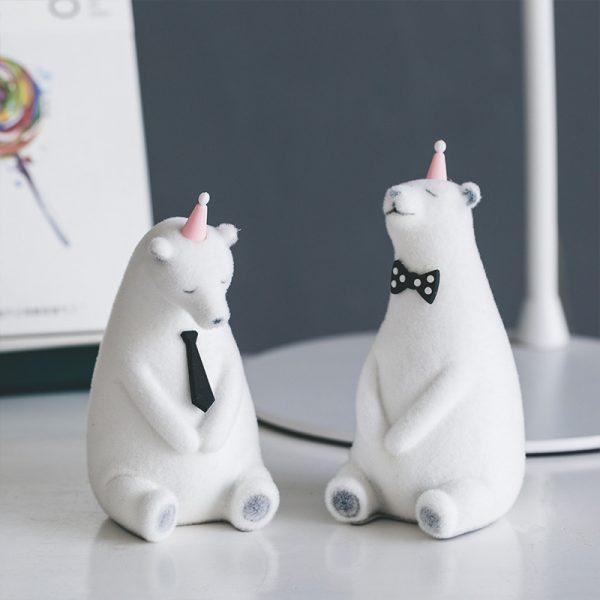 1I820019 Polar Bear Figurine White Cheap Sale (2)