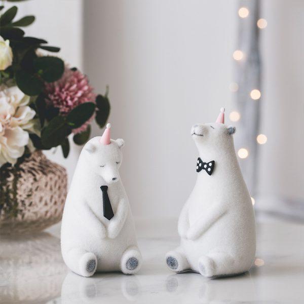 1I820019 Polar Bear Figurine White Cheap Sale (5)