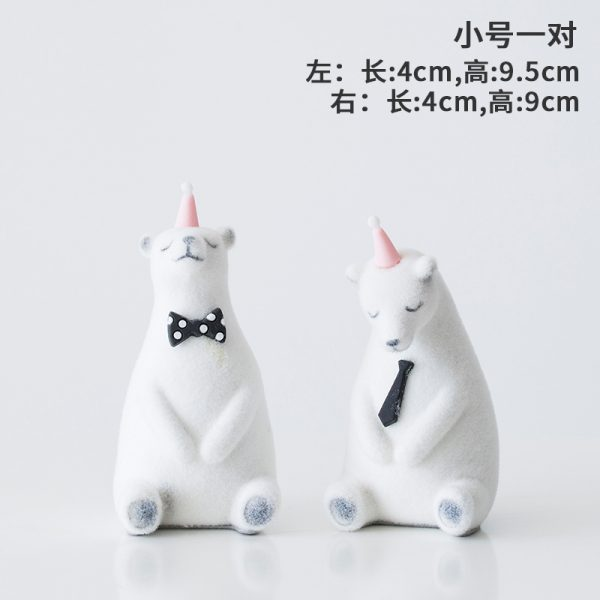 1I820019 Polar Bear Figurine White Cheap Sale (7)