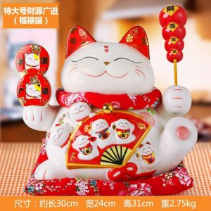 1I904065 1691 Large Lucky Cat Statue Online Sale
