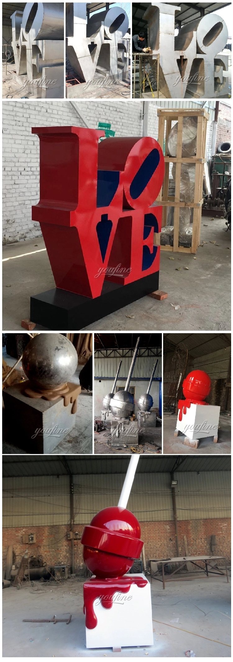 1IC18002 Modern Stainless Steel Sculpture Manufacturer (2)