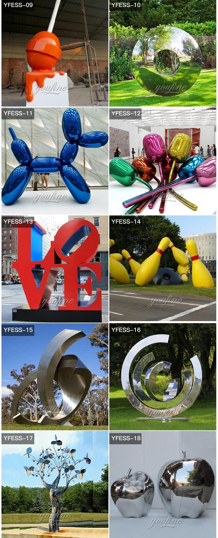 1IC18002 Modern Stainless Steel Sculpture Manufacturer (4)
